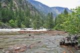 High Spring Water On Wenatchee River In Tumwater Canyon