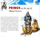 Old Primus Ad  ( The stove that survived Everest)