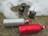 MSR Model 9 And Model G Stoves ( WIth Old SIgg Fuel Bottles )