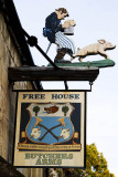 Pub sign at Sheepscombe, near Stroud