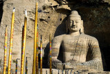 Buddha outside the Yungang Caves, Datong