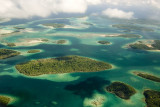 Flying over the Western Province islands