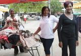 Three friends, Broadhurst Mall, Gaborone