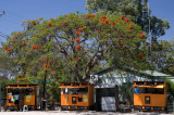 Kiosks in Botswana, sponsored by a telecomms company