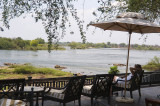 Overlooking the Zambesi from the Royal Livingstone Hotel, Zambia