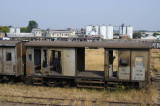 Ruined freight wagons, Bulawayo rail yards