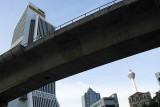 Light rail viaduct soars above Jalan Pudu