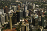 View of Bukit Bintang from the KL Tower