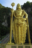 Hindu deity Lord Murugan, Batu Caves, Malaysia