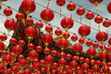 Chinese New Year lanterns at Thean Hou Temple
