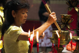 Worshippers at Chinese New Year