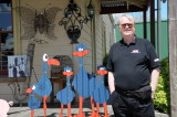 John with speciality sculptures in Tirau