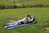 Ian with his Barnard action rifle at Te Puke