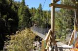 Suspension bridge 6 km from the nearest road