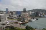 View of Wellington harbour from Te Papa museum