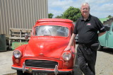 Two Morris Minor based vehicles being restored