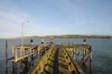 Fishing off the pier at Tinopai