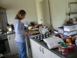 Karen in her kitchen