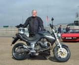 John with Moto Guzzi Breva 1100