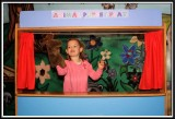 Noelle's puppet show with Moose A. Moose