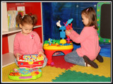 Playing in the baby room
