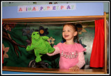 Noelle's puppet show with the turtle