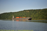 Barge with Tug (Huron Service) at Anchor