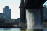 Temporary Waterfalls Under Brooklyn Bridge