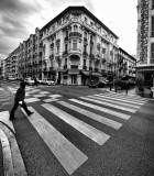 Man crossing in Nice...
