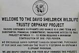 Sign at Sheldrick's Orphanage