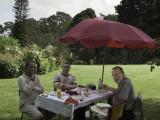Kennedy, Jamie & Jim at lunch at Kiabethu Farm - all farm fresh, home grown ingredients