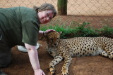Lynda and one of the cheetah girls (Sharon I believe) I wore that grin all day after this cheetah hug!