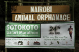 Sign for KWS Nairobi Animal Orphanage