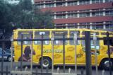 A colorful Matatu in downtown Nairobi