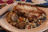 Pork Chops with Barley Mushroom Casserole