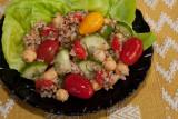 Bulgur, Garbanzo Bean, and Cucumber Salad