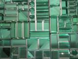 Cruise Ship Glass Art Detail
