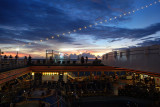 Sun and Lido Decks at Sunset
