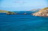 Slea Head Drive on Dingle Peninsula View of Blasket Islands