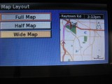 Map layout setup screen, FULL map. Notice that ETA and DIST to destination aren't shown on this screen