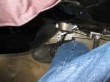Foot on peg