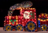A SANTA TRAIN, MADE OF LIGHTS & STAINED GLASS - ISO 800