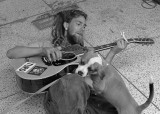 STREET MUSICIAN WITH HIS BEST FRIEND  -  ISO 80