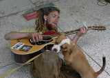 STREET MUSICIAN AND HIS BEST FRIEND  -  ISO 80