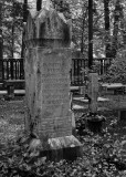 BACKSIDE OF THE GRAVESTONE SHOWN IN THE PREVIOUS IMAGE  -  ISO 80