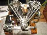 (84)   neat Vee engine by Randall Cox