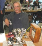 (83)   Randall Cox with his neat  VEE twin