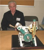 (89)      Don Dickinson  and his OH rotary valve V-4 Steam engine