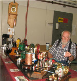 (98)   Carl Felty by his table of great engines!