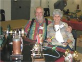 (100)   Carl  and Carole Felty  at their display.